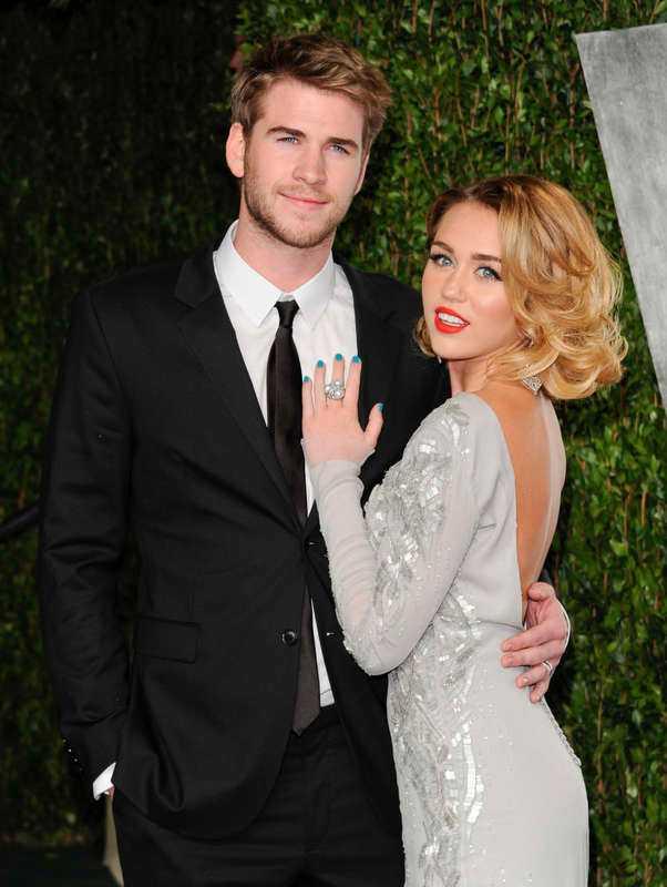 Miley Cyrus och Liam Hemsworht.