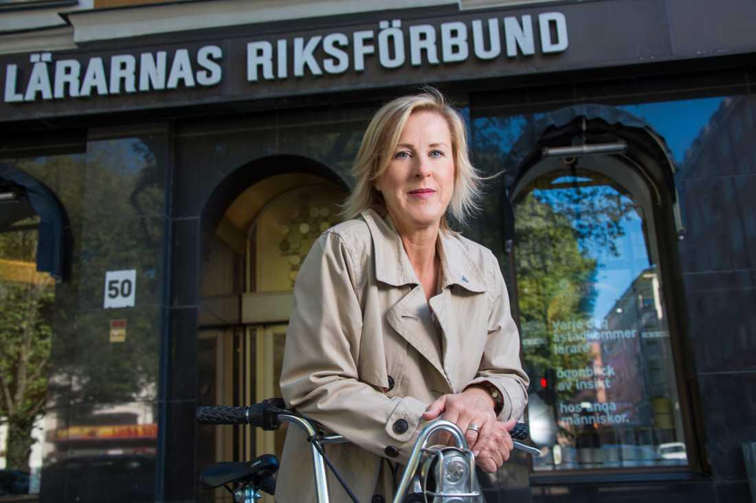 Åsa Fahlén, ordförande på Lärarnas riksförbund.