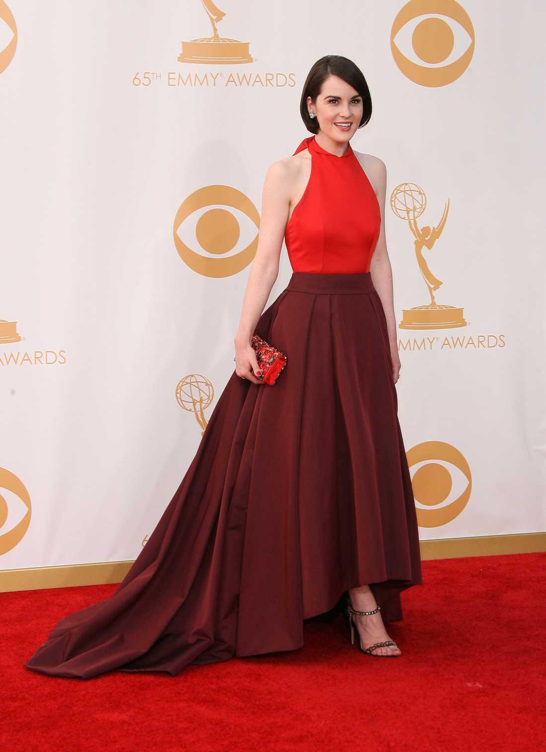 Michelle Dockery Wow, wow, wow! Michelle Dockery var avundsvärt vacker i en bedårande Prada-blåsa.