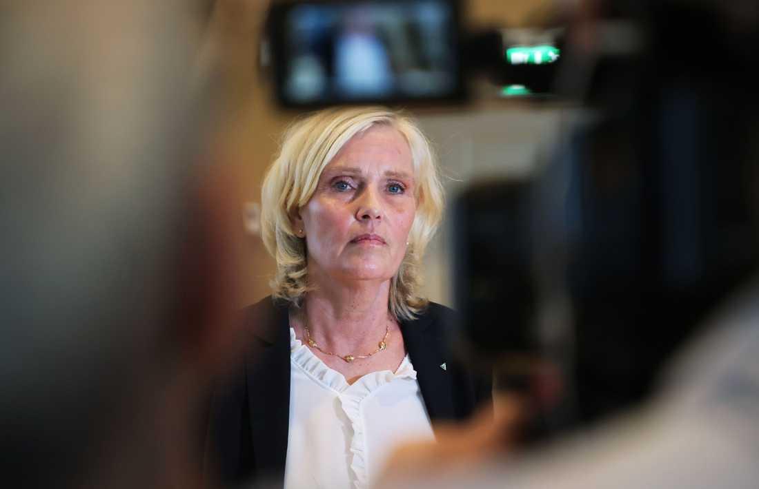Ann Söderström, hälso- och sjukvårdsdirektör i Västra Götaland, under regionens presskonferens.
