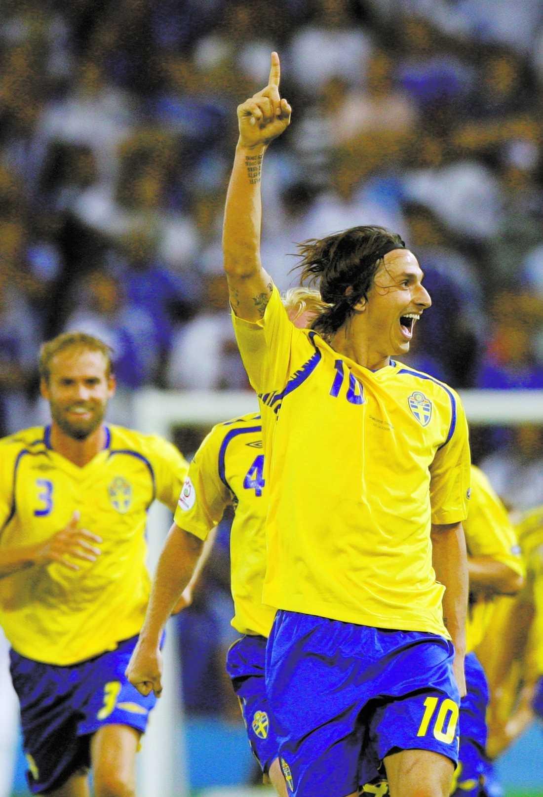 Zlatan gjorde målet som satte honom i centrum av fotbollsvärlden och gav Sverige tre poäng.