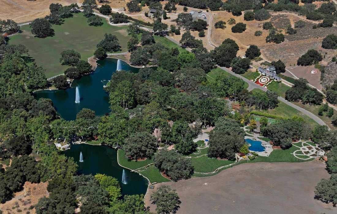 Michael Jacksons Neverland Ranch från ovan