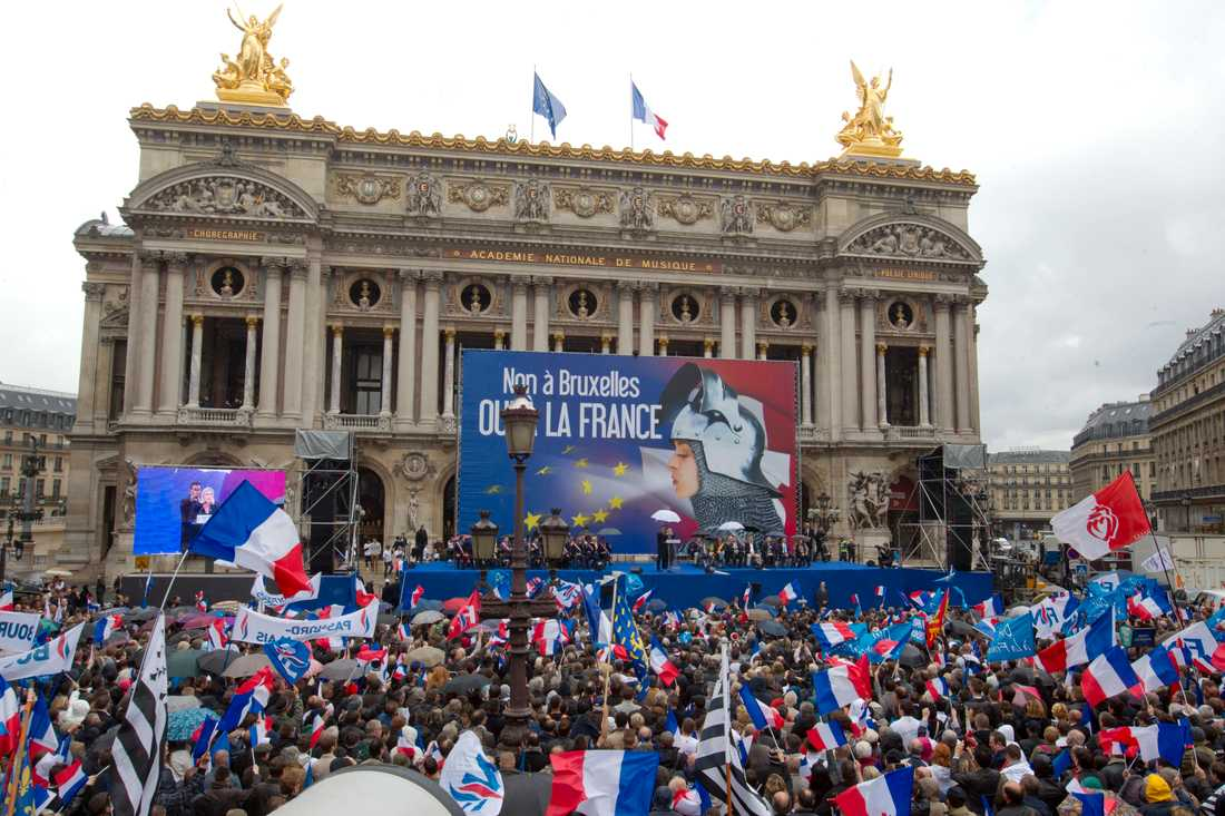 Nationella fronten på första maj i Paris.