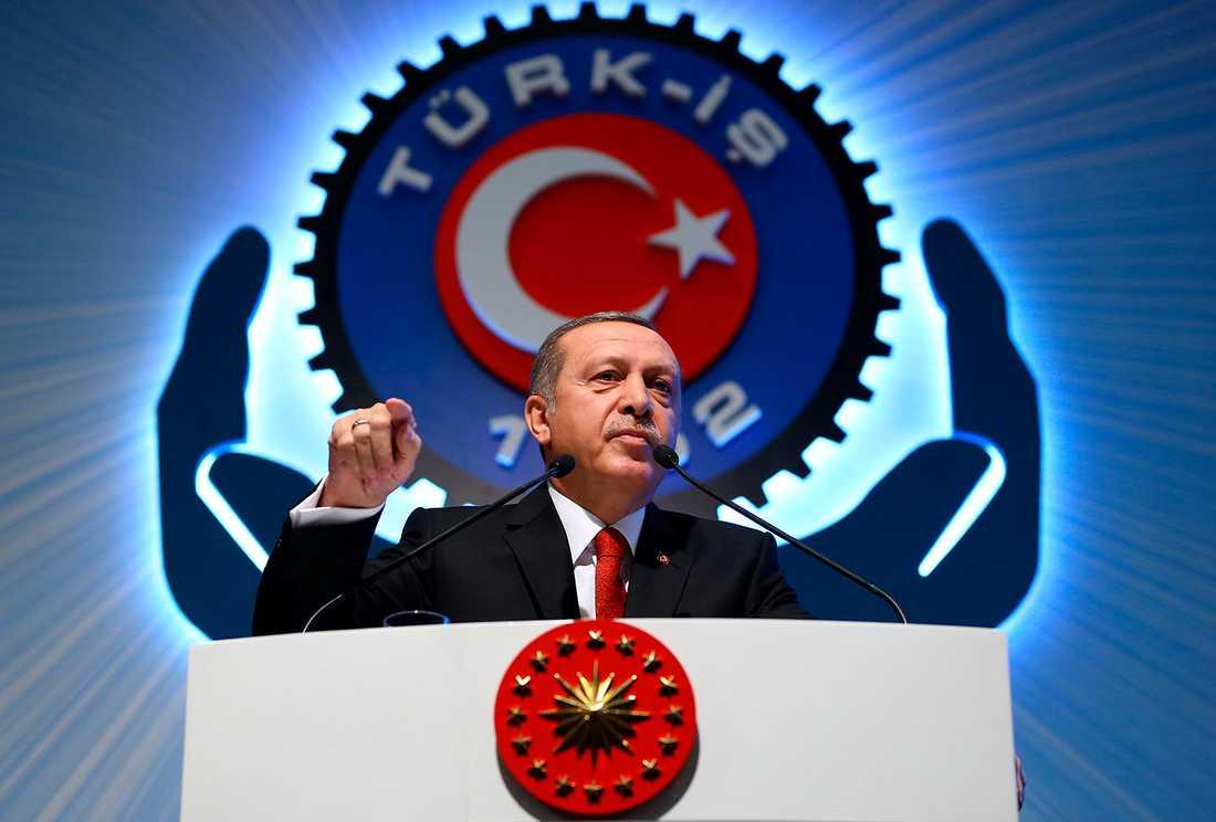 Erdogan i Ankara på torsdagen.