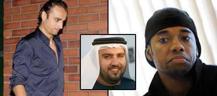 Dimitar Berbatov, till vänster, blev plötsligt aktuell för Manchester City. Detta eftersom Sulaiman Al Fahim, mitten, köpte Manchester City och var villig att investera tungt i spelarköp. Nu hamnade Berbatov ändå i Manchester United och City fångade istället Robinho.