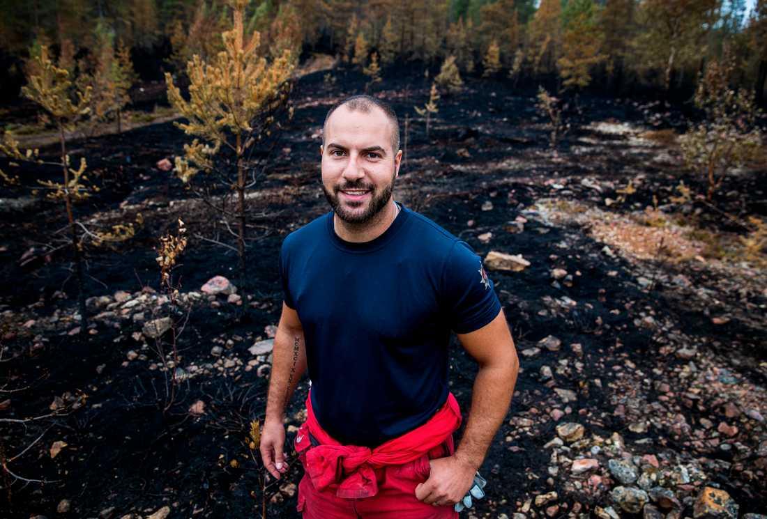 Sevak Yanikian, brandman från Södertörns brandförsvar.