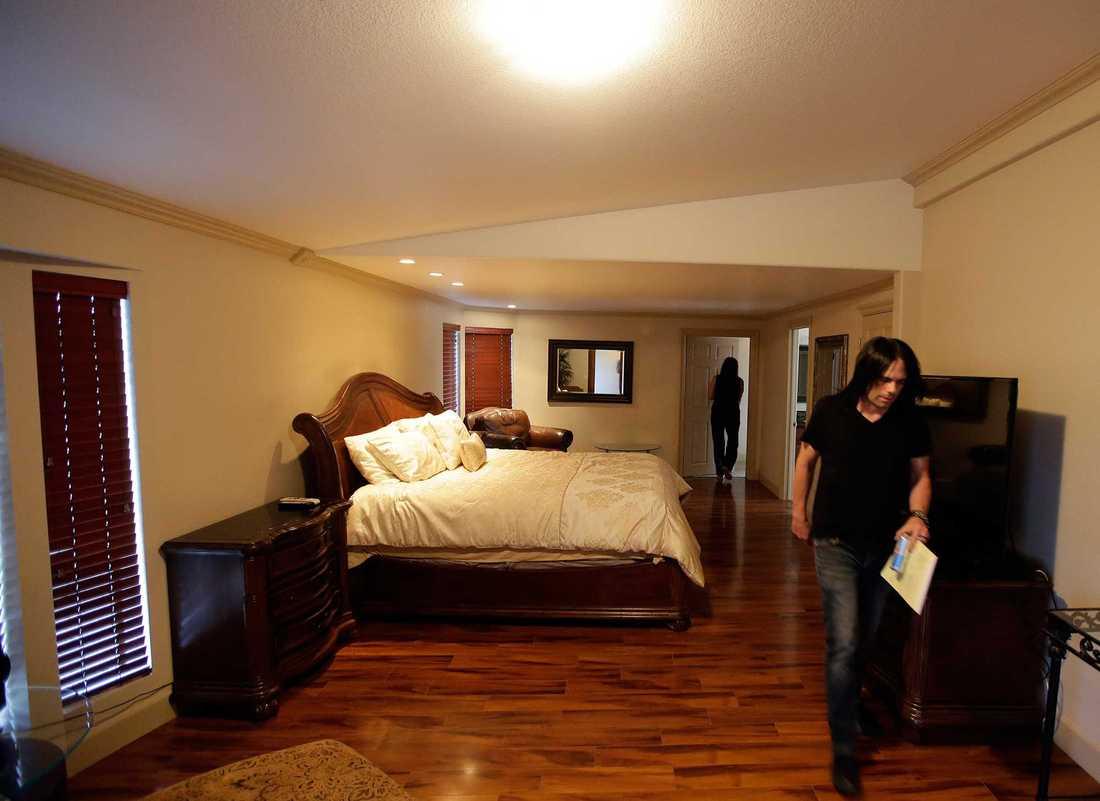 Rummet på bordellen där Lamar Odom ska ha hittats livlös.