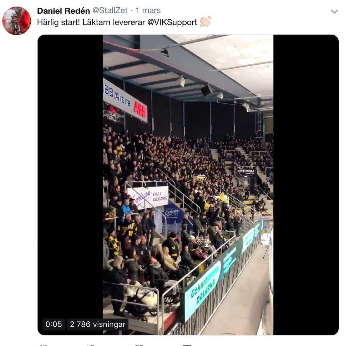 En av Daniel Redéns alla tweets den här säsongen om favoritlaget.