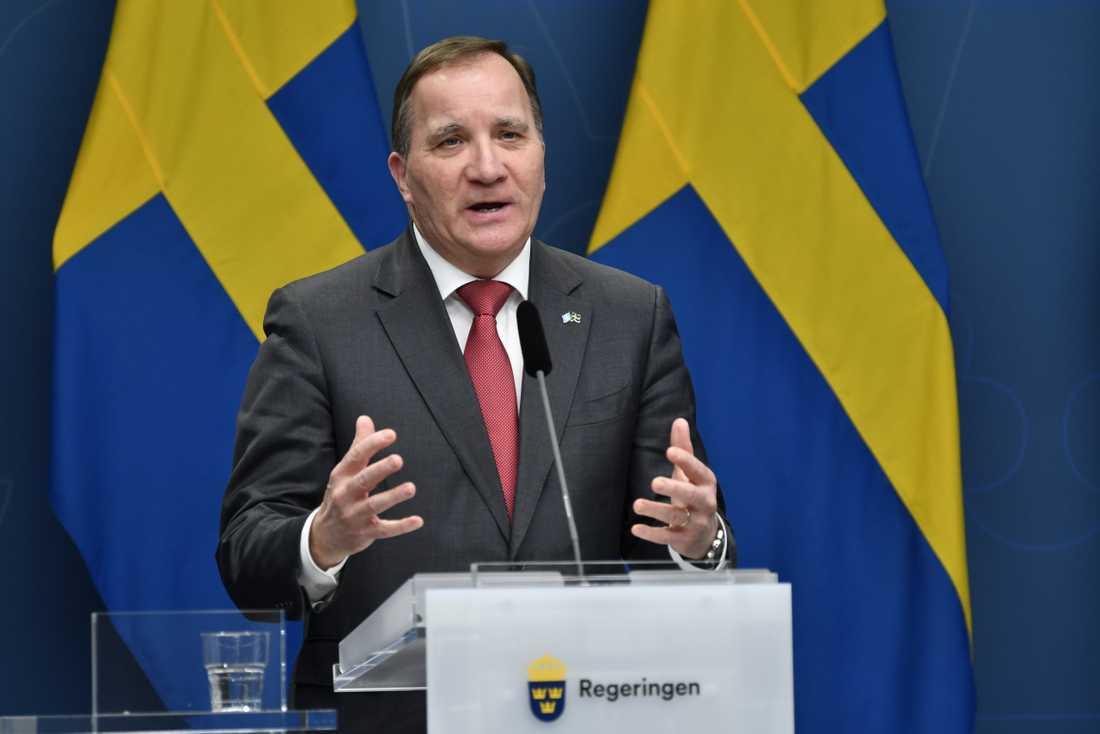 Statsminister Stefan Löfven (S) deltar i EU-ledarnas toppmöte via webben under torsdagen och fredagen.