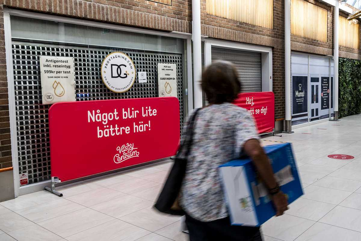 Doktorgruppens, nu stängda, mottagning i Väsby centrum.