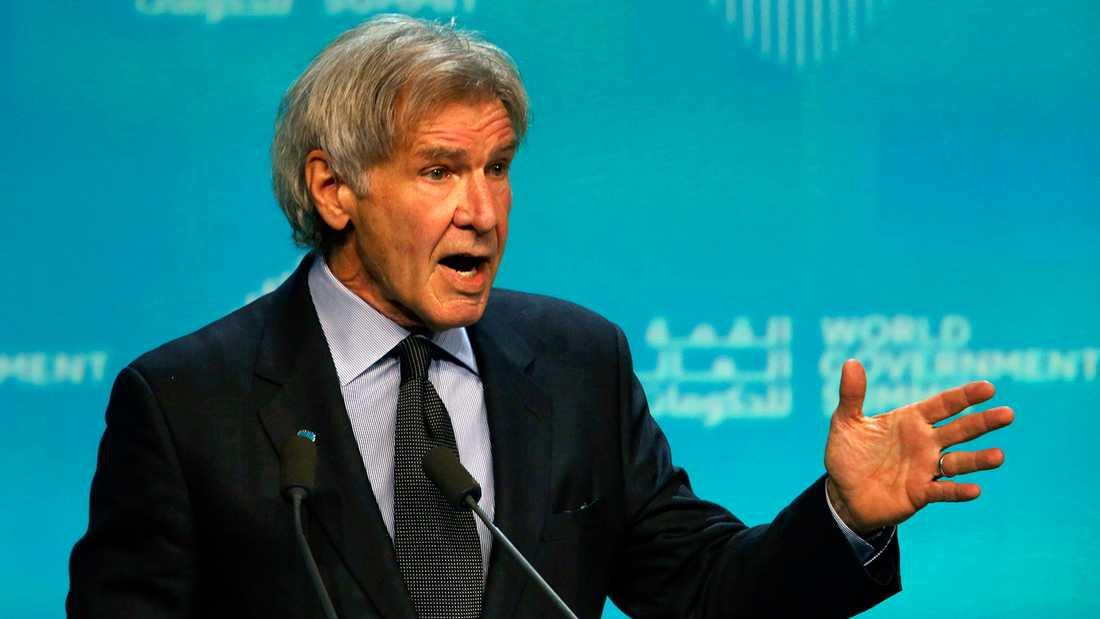 Harrison Ford på Global World Summit i Dubai.