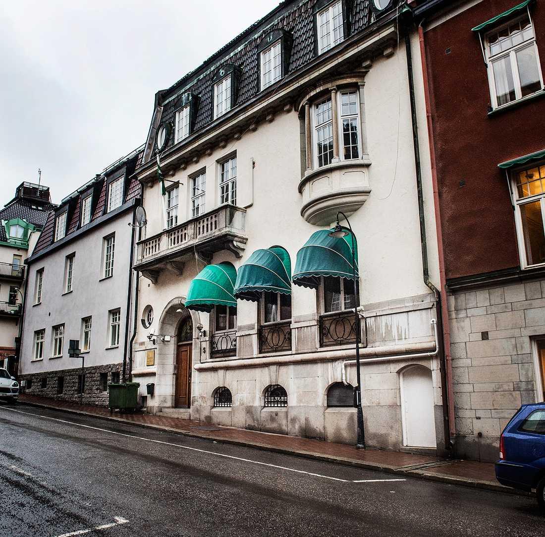 Saudiarabiens ambassad på Östermalm i Stockholm.