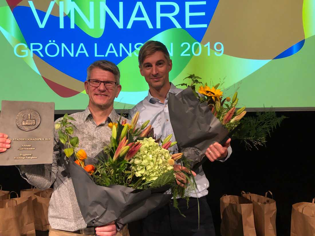 Rickard Berlin och Anders Eriksson Modin tilldelades Stadsbyggnadspriset 2019.