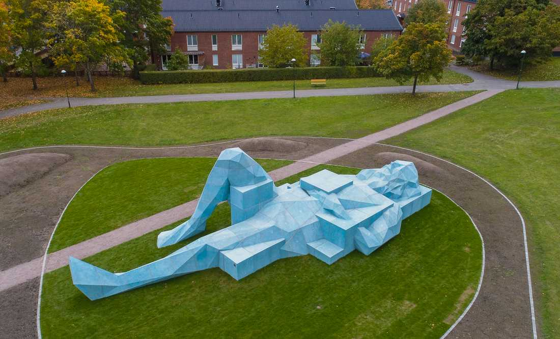 Stockholms stad har storsatsat på offentlig konst i Skärholmen.