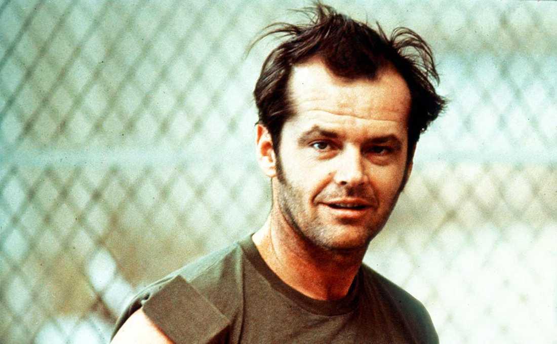 """Jack Nicholson vann en Oscar för sin prestation i """"Gökboet""""."""