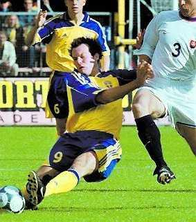 2 juni 2001: VM-kval mot Slovakien 2–0.