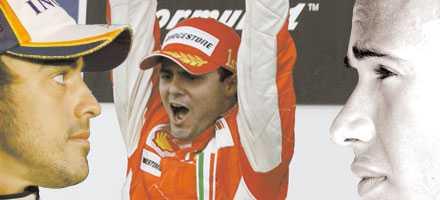 Triangeldrama Alonso, Massa, Hamilton.
