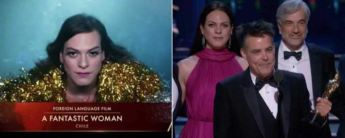 """Chilenska """"A fantastic woman"""" vann en Oscar för """"Bästa utländska film"""" – Ruben Östlunds """"The Square"""" blev utan statyett."""