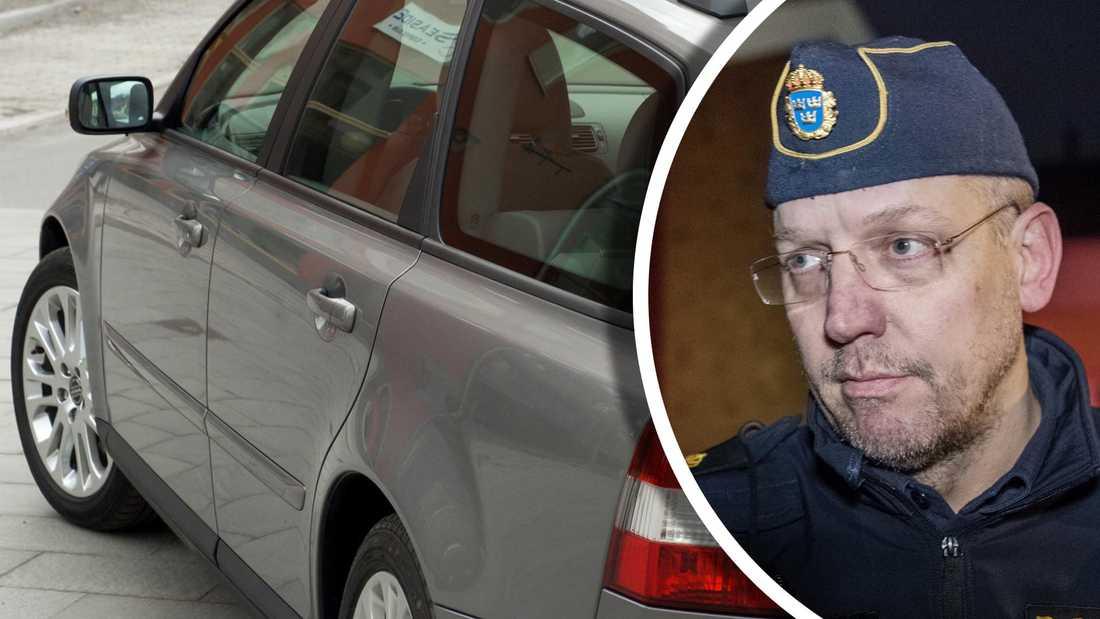 Polisen efterlyser en mystisk bil som kan ha använts vid den fräcka bilstölden.