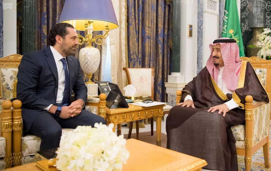 Saad Hariri i samtal med saudiska ledare.