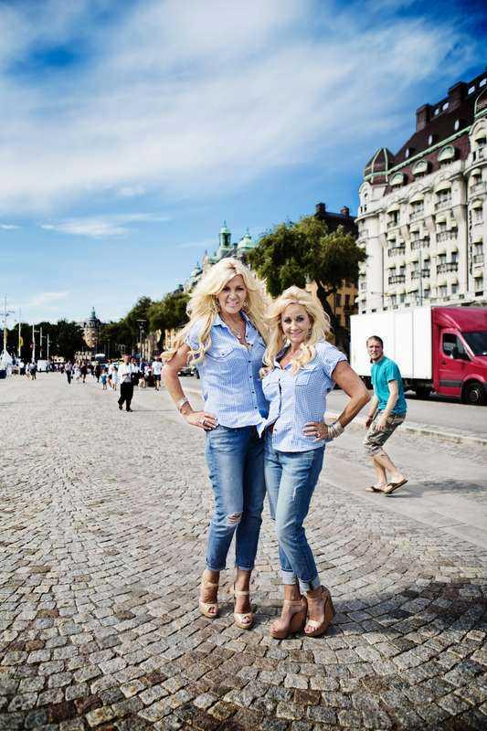 Maria och vännen Mindy hade en show i TV3.