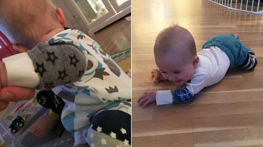Madeleines krypknep gör att bebisen får upp farten.