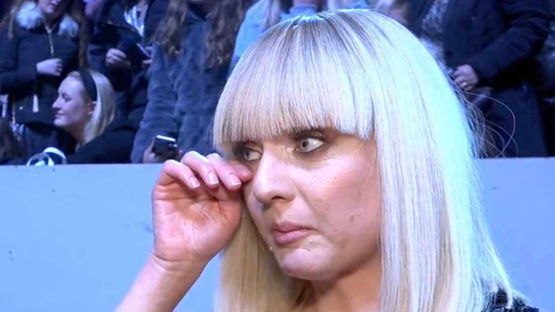 Anna Bergendahl efter tredjeplatsen i Melodifestivalen 2020.