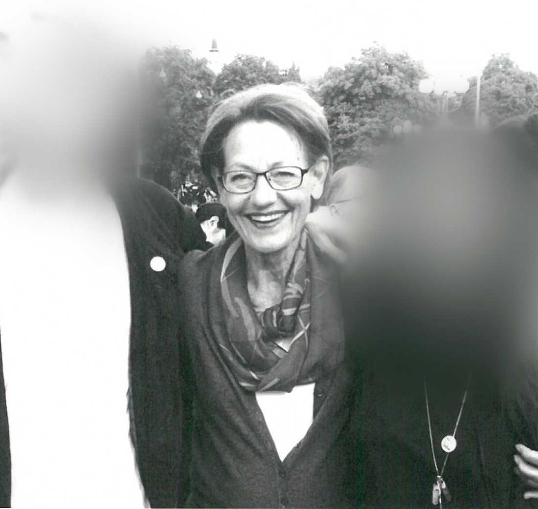 Bilden på Gudrun Schyman var en del av försvarets bevisning