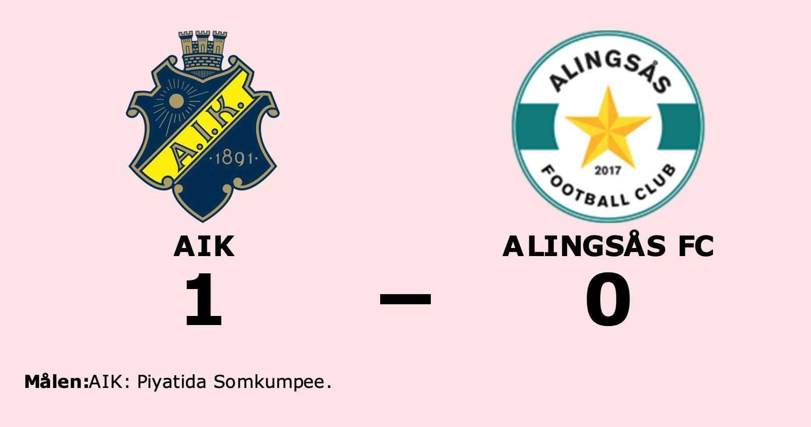 Piyatida Somkumpee matchhjälte för AIK mot Alingsås FC