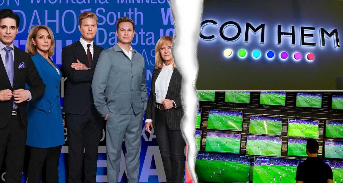 TV4:s valvaka riskerar att avbrytas för Comhem-kunderna.