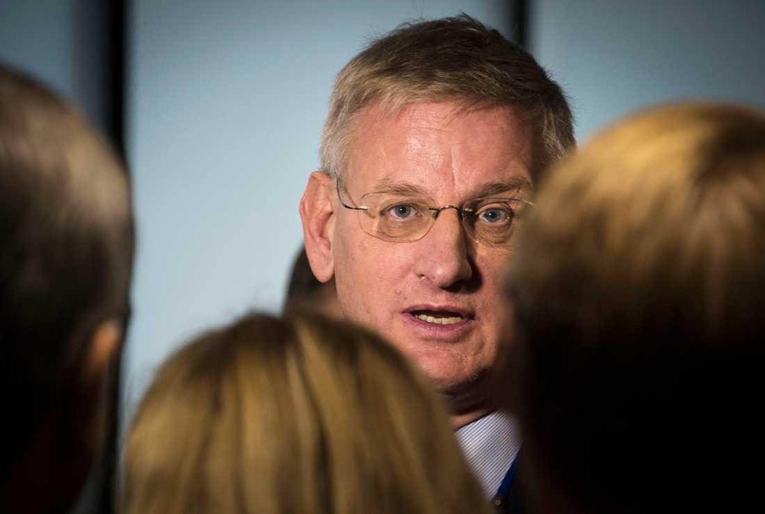 Utrikesminister Carl Bildt (M)