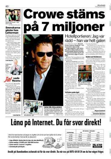 Aftonbladet i onsdags.