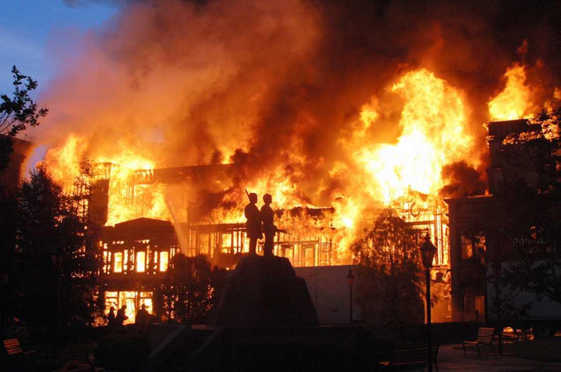 Branden på Universal 2008.