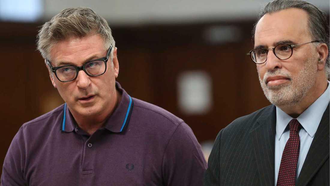 Alec Baldwin (t v) döms till att gå i behandling efter ett parkeringsbråk.