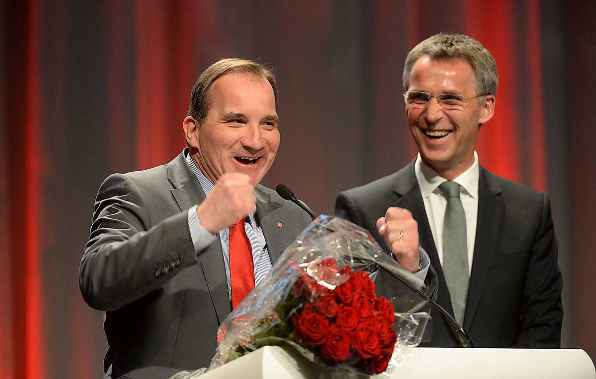 Kanske var det Stefan Löfvens förhandlingsvana som gjorde att partiet kunde enas om att vinstintresset inte ska styra välfärden. Efter en hetsig debatt blev det glada miner – även på Norges Jens Stoltenberg.