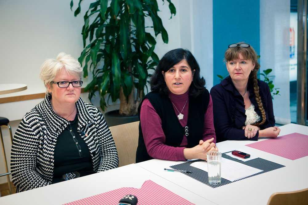 Carina Ohlsson i S-kvinnor (till vänster) är en av de som är starkt kritiska till samarbetet med Saudiarabien.
