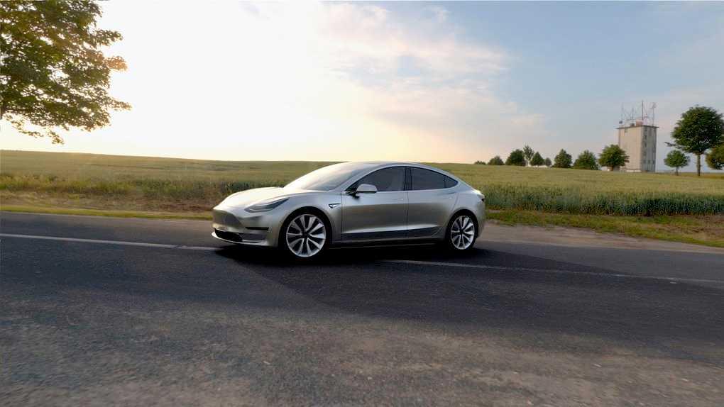 """Tesla Model 3 – nuvarande """"budgetbilen"""" som trots att den är klar för produktion först 2017 – redan har nära 400 000 förbeställningar."""