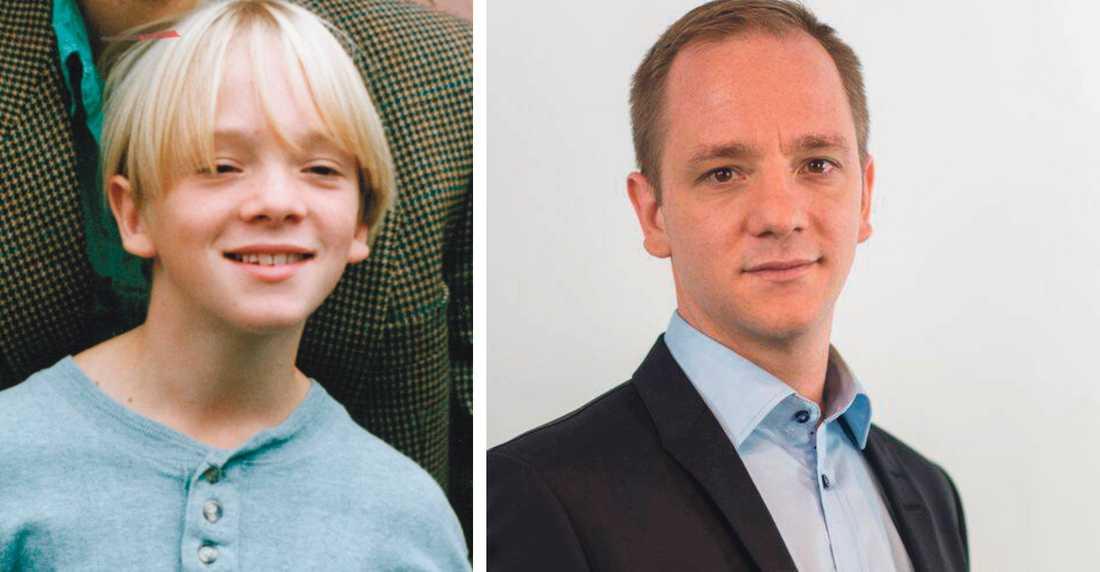 """David Boati 1992 (då aktuell för """"En komikers uppväxt"""") och 2020 (numera utrikeskorrespondent på SVT)."""