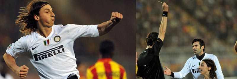 Målskytt, varnad och utbytt. Zlatan är i händelsernas centrum.