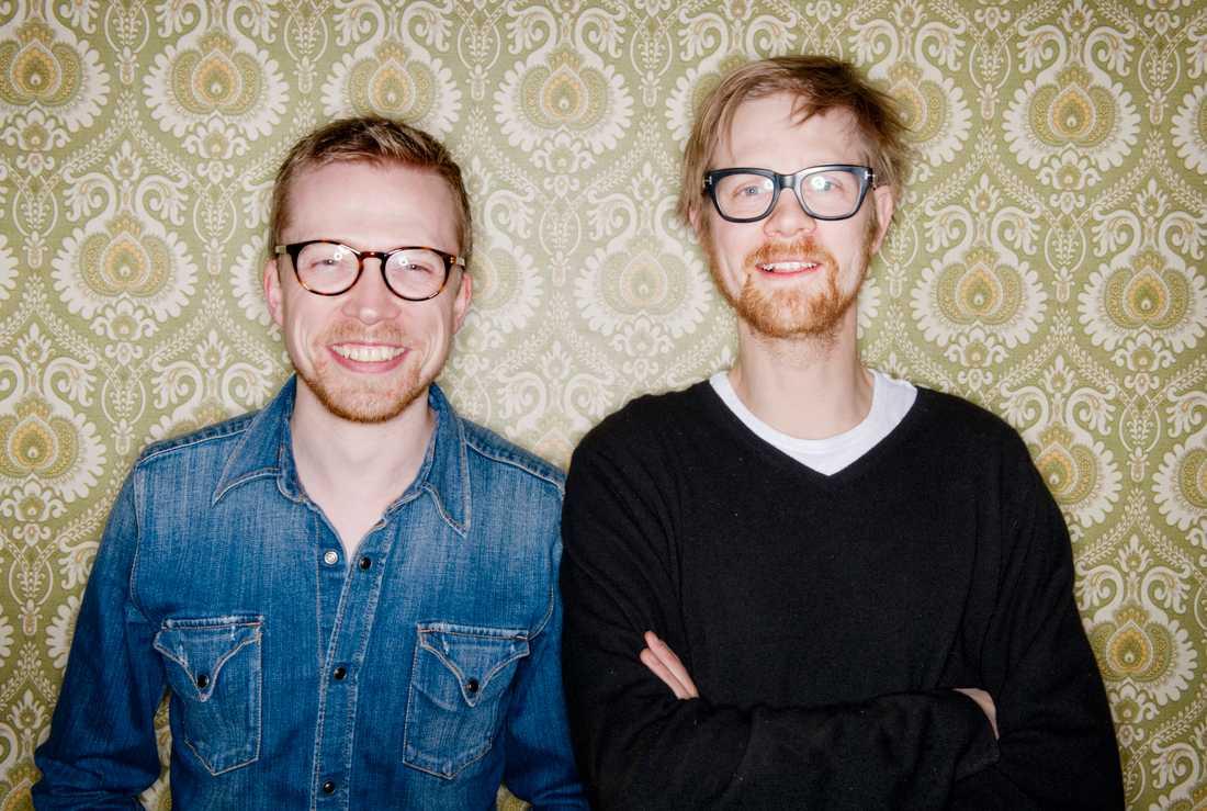 """Humorduon Måns Nilsson och Anders Johansson är tillbaka med nya podcasten """"Fråga Anders och Måns"""". Arkivbild."""