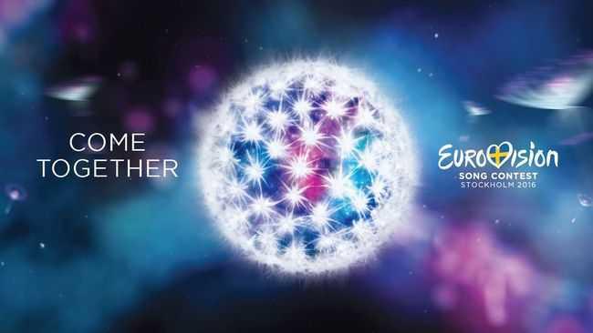 """På måndagen presenterade SVT årets logga och slogan, """"Come together"""", för Eurovision song contest i Stockholms stadshus"""