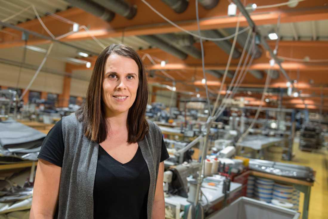 Leena Berg är vd för Dorotea-företaget Svenska Tält.