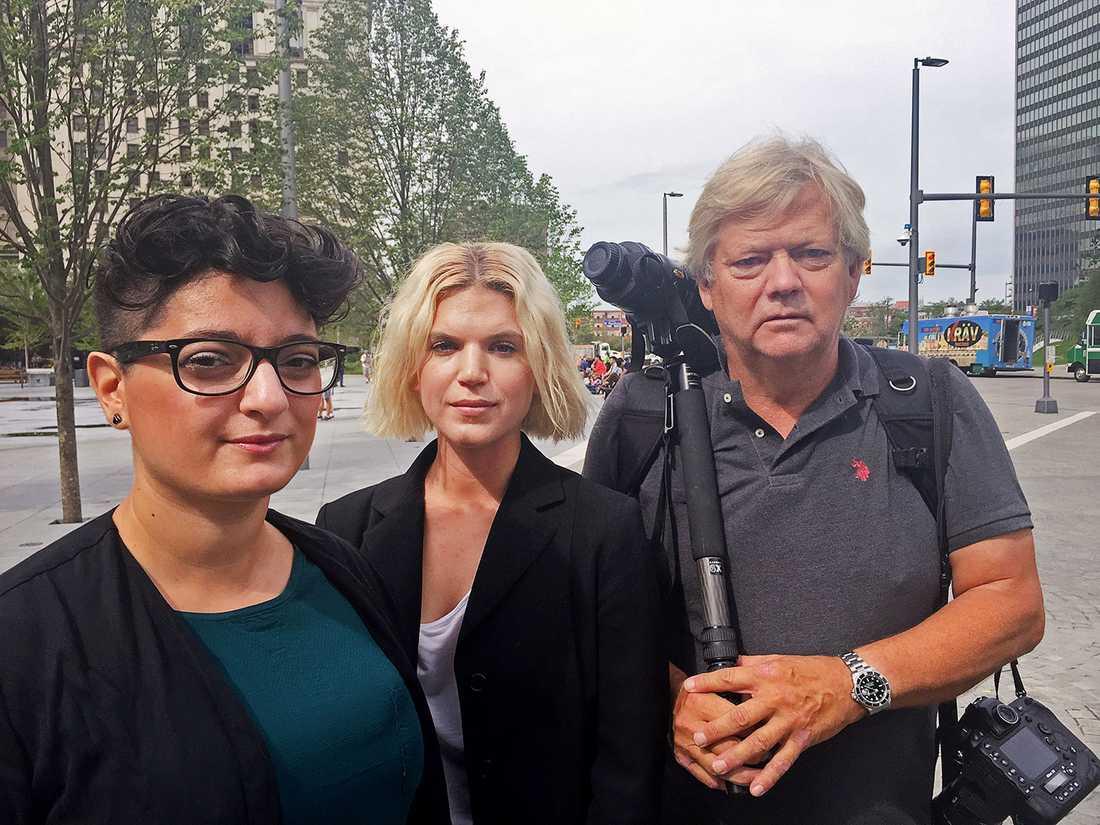 Aftonbladets Nivette Dawod, Malin Johansson och Urban Andersson på plats i Cleveland.