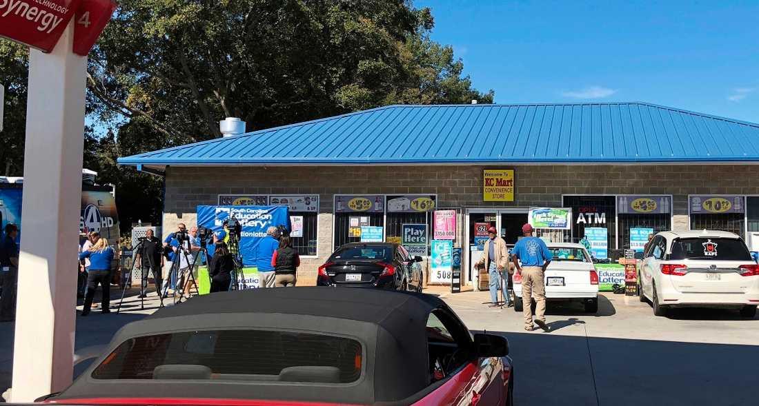 Affären i Simpsonville, South Carolina, där den vinnande lotten såldes.