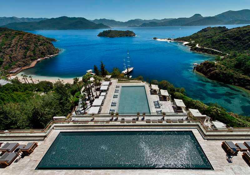 Solresors femstjärniga lyxhotell i Datca, Turkiet.