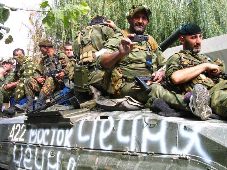 Vostok-soldater i Georgien år 2008