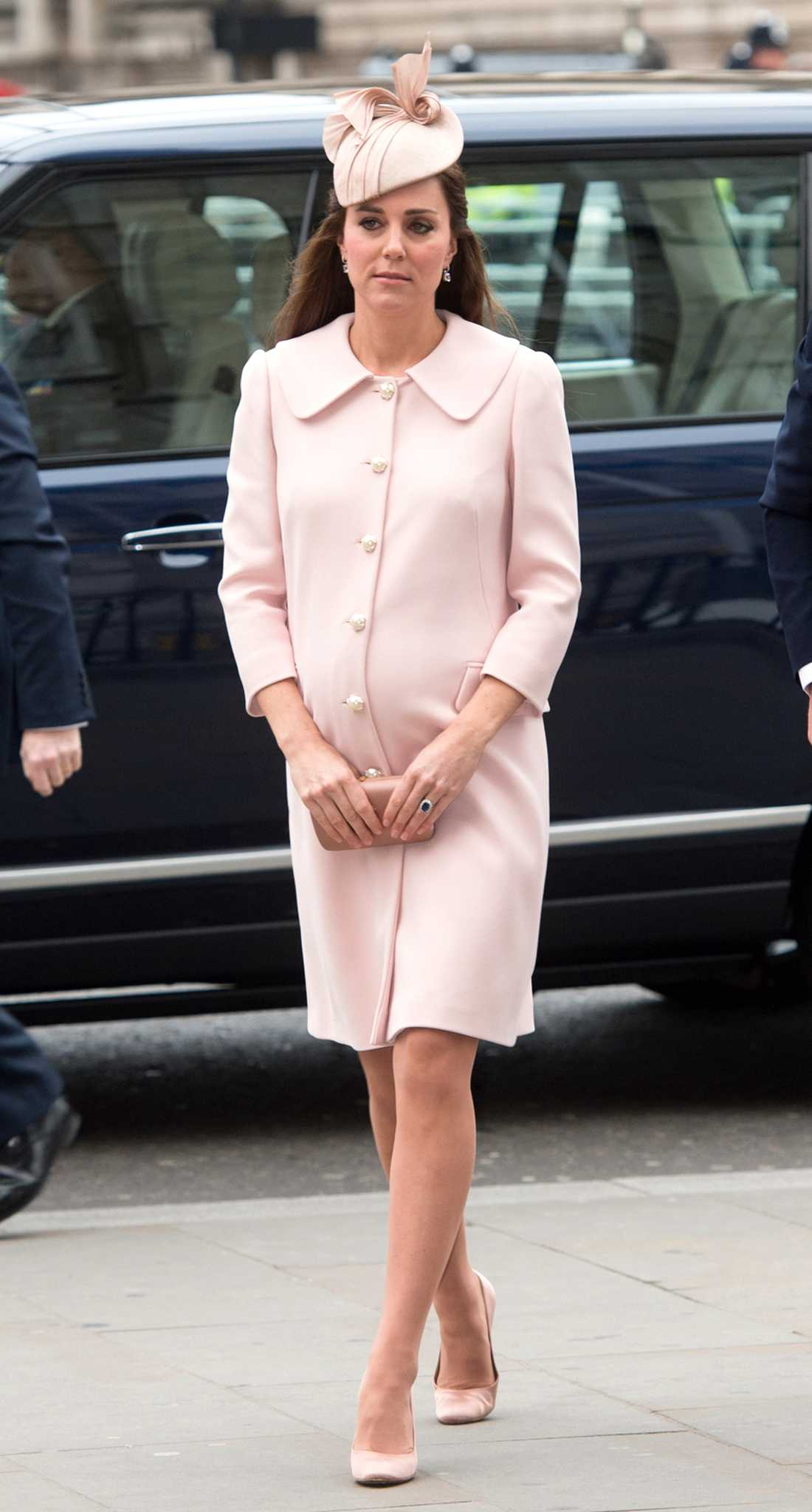 Kate Middleton Kate Middleton är tjusig i sin puderrosa look.