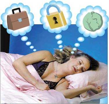 DRÖMLÄGE Nu kan du få veta vad det betyder om du drömmer om en väska, ett hänglås eller ett blomkålshuvud. I den nya boken av Cassandra Eason förklaras allt som händer under dina nattliga äventyr. Obs! BIlden är ett montage.