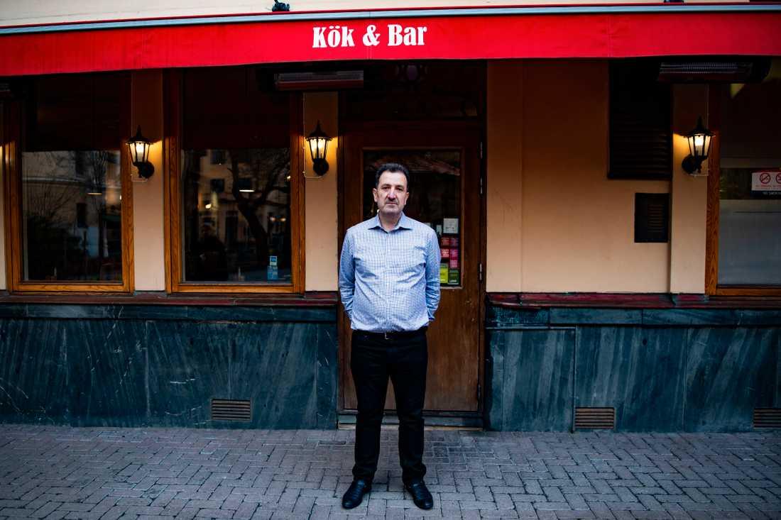 Morgan Sliwo på restaurangen Hubertus har ofta besök av statsministern.