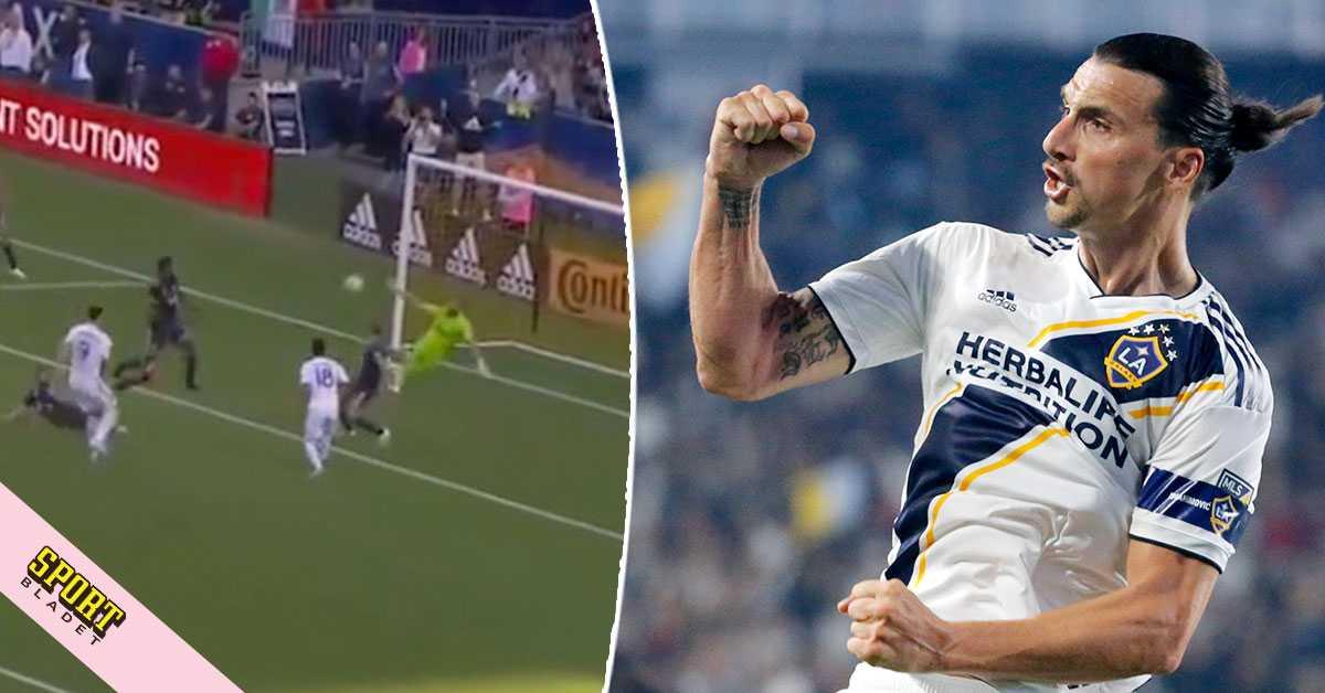 Zlatans 29:e mål i Galaxys förlust
